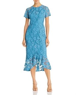 nanette Nanette Lepore Lace Flounce Midi Dress