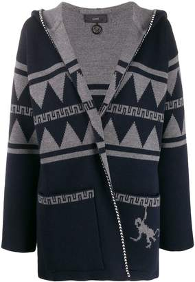 Alanui hooded open-front cardigan
