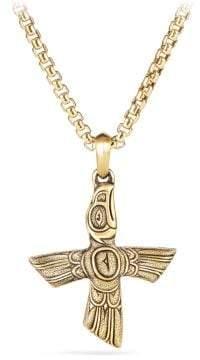 David Yurman Northwest Bird Amulet In 18K Gold