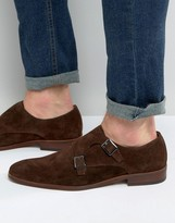 Dune Rhode Island Nubuck Monk Shoes