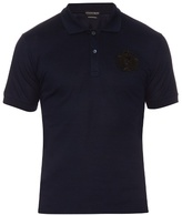 Alexander Mcqueen Crest-appliqué Cotton Polo Shirt