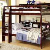 Northam Twin over Twin Bunk Bed with Bookcase Harriet Bee Bed Frame Color: Dark Walnut