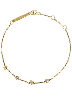 Zoë Chicco 14kt yellow gold Itty Bitty spread out LOVE diamond bracelet