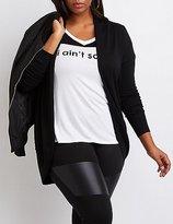 Charlotte Russe Plus Size Shawl Collar Cocoon Cardigan