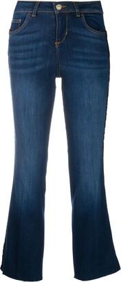 Liu Jo Cropped Flare Jeans