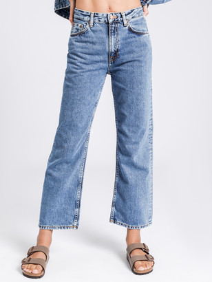 Nudie Jeans Clean Eileen Wide Leg Jeans in Gentle Blue