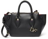Diane von Furstenberg Black 'Voyage' Double Zip Leather Satchel