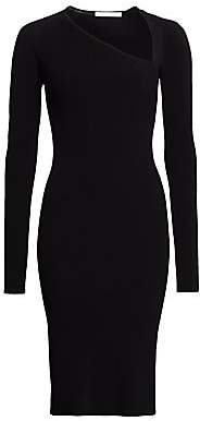 Helmut Lang Women's Asymmetric-Neckline Knit Dress