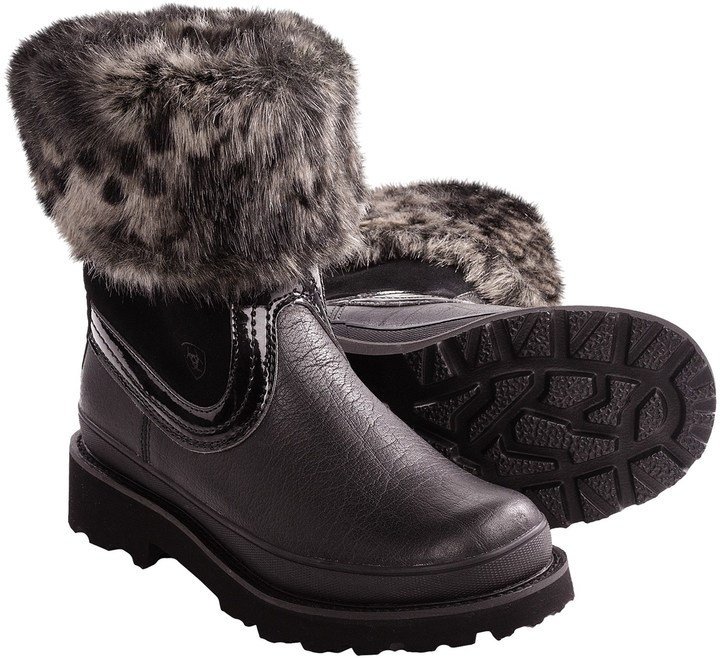Ariat Fatbaby Faux-Fur Collar Boots (For Women)