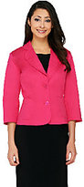 Joan Rivers Classics Collection Joan Rivers Simply Chic 3/4 Sleeve Blazer