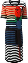 Sonia Rykiel parrot intarsia striped dress - women - Silk/Cotton - S
