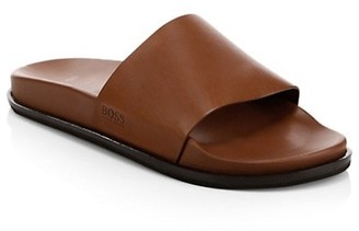 HUGO BOSS Cliff Leather Slides