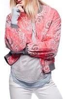 Free People Women's Daytrip Print Bomber Jacket