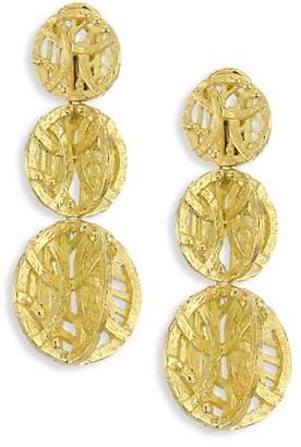 Katy Briscoe Vanderbilt 18K Yellow Gold Triple-Drop Clip-On Earrings