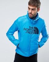 The North Face Logo Hooded Jacket Drew Peak Windwall in Blue