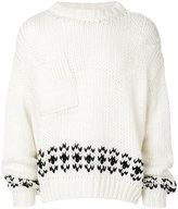 Raf Simons patterned hem sweater