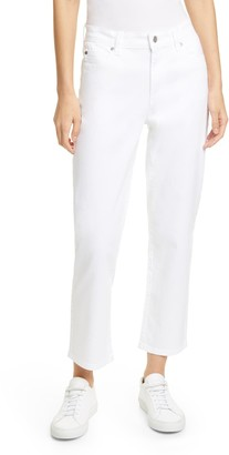Eileen Fisher High Waist Stretch Organic Cotton Pants