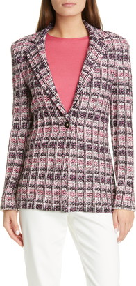 St. John Monarch Textured Tweed Knit Jacket