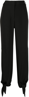 Off-White Tie-Up Cuffs Tapered Trousers
