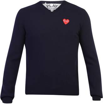 Comme des Garcons Embroidered Wool Sweater