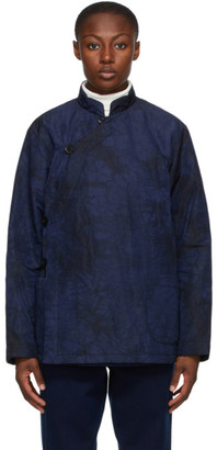 Blue Blue Japan Navy and Black Kagozome Oxford Jacket
