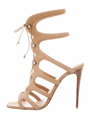 Christian Louboutin Amazoulo 100 Suede Gladiator Sandals