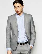 Ben Sherman Plain Wool Blend Suit Jacket