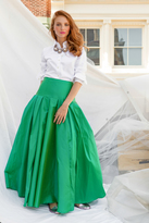 Shabby Apple Brooklyn Maxi Skirt Green
