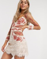 For Love & Lemons Matador tulle and lace dress