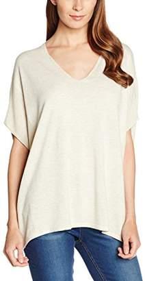S'Oliver Women's 14.608.67.5764 Long Sleeve Poncho - Off-White - UK 8