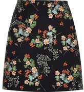River Island Womens Black floral print a-line mini skirt