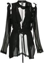Ann Demeulemeester deconstructed cut out jacket