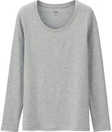 Uniqlo Women's Supima(R) Cotton Crewneck Long Sleeve T-Shirt