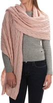 Portolano Cable-Knit Cashmere Wrap (For Women)