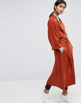 Asos Trench with Roll Back Sleeve and Double Collar Detail