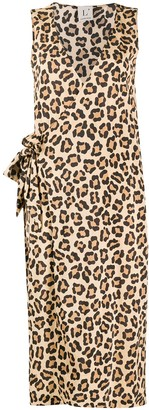 L'Autre Chose Leopard-Print Wrap Dress