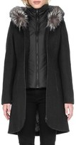 Soia & Kyo Women's 'Charlene' Wool Blend Coat With Genuine Fox Fur