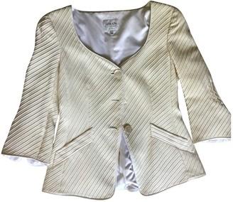 Armani Collezioni White Silk Jacket for Women Vintage