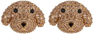 Eye Candy Los Angeles CZ Poodle Pink Stone Stud Earrings