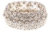 Natasha Accessories Scaled Round Crystal Stretch Bracelet