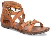 Sofft Boca Leather Criss Cross Banded Buckled Casual Sandal