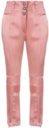 Ann Demeulemeester straight leg satin trousers