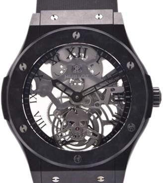 Hublot Black Aluminum And Rubber Classic Fusion 505.UC.0140.LR. SKULL Men's Wristwatch 45 MM