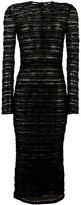 Dolce & Gabbana sheer long-sleeved dress - women - Polyamide/Spandex/Elastane - 46