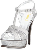 Saint Laurent Tribute Glitter 105mm Sandal