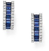 Bloomingdale's Sapphire & Diamond Earrings in 14K White Gold - 100% Exclusive