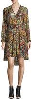 Zadig & Voltaire Metallic Silk Multipattern Dress, Multicolor
