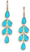 Ippolita Rock Candy Turquoise & 18K Yellow Gold Linear Cascade Earrings