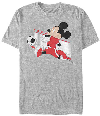 Fifth Sun Tee Shirts ATH - Mickey Mouse Athletic Heather Swiss Kick Tee - Adult