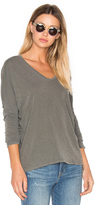 Stateside V Neck Long Sleeve Tee